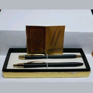 Vintage Astromatic Pen/Pencil Set Works Great